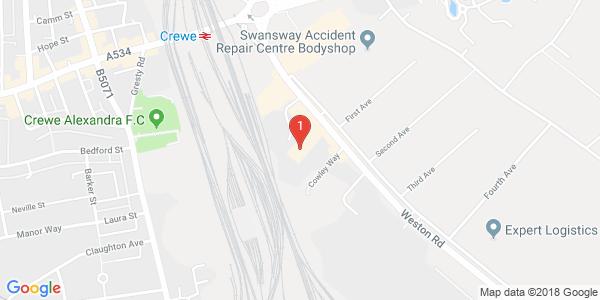 Google Map of cw16fl